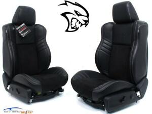 Dodge Charger Srt Hellcat Black Leather Oem Front Seats 2011 2020