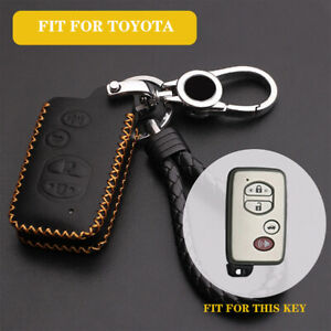 Leather Key Fob Remote Cover Bag For Toyota Rav4 Prius Land Cruiser 2010 2011 86