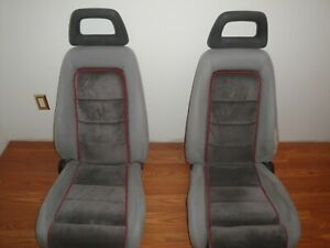 79 86 Mustang Halo Front Seats Gray Gt 5 0 Foxbody Oem Nice Complete