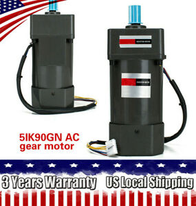 110v 60hz 90w Ac Gear Motor 1350rpm Speed Controller Variable electric Motor