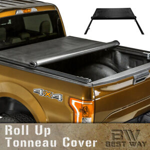 Lock Roll Up Soft Tonneau Cover For 2005 2015 Toyota Tacoma 6ft 72in Bed Cover