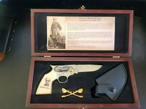 Robert E. Lee Pocket Pistol Shape Knife W Holster amp; Lapel Pin History Page Box $29.99