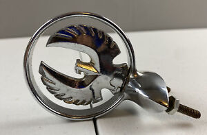 1964 1965 1966 Imperial Chrome Hood Ornament Badge Logo Bird Medallion Read Dis