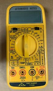 Nos Accurate Instruments Digital Meter 17228 Auto Ohm Tach Testing Diagnostic