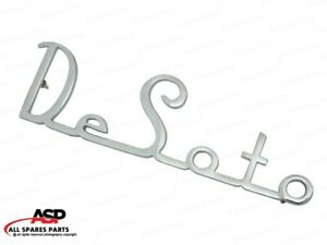 Brand New Vintage Car Desoto Script Badge Emblem Decal Brass Chrome Plated