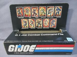 Gi Joe Cobra Missile Command File Card Holder Box Only Sears Exclusive 1982