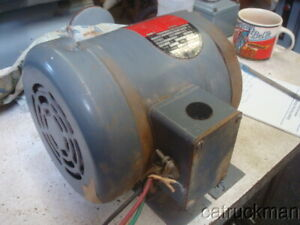 Rockwell Delta 1 Hp Electric Motor By Baldor 1725 Rpm 208 Vac 3 Phase Tefc