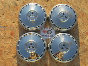 1967 1968 1969 Dodge Dart Gts Poverty Dog Dish Hubcaps Set Of 4