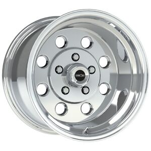 15x10 Vision Sport Lite Pro Drag Polished Racing Wheel 5x4 5 6 5 bs 1pc No Weld