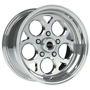 15x10 Vision Sport Mag Polished Magnum Pro Drag Racing Wheel 5x4 75 No Weld 4 5