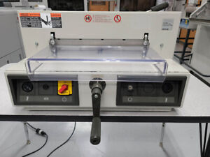 Triumph Mbm Ideal 3915 15 Electric Paper Cutter Warranty 4305 4315 4350