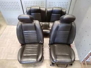 2005 2007 Ford Mustang Front Rear Complete Seat Set W sport Type Oem 2006