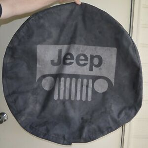 2001 07 Jeep Wrangler Liberty Spare Tire Cover Oem Part Willys Mb Logo Used