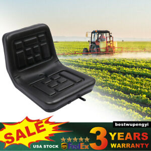 Universal Lawn Mower tractor Seat With Sliding Track Drain Hole Thickly padded
