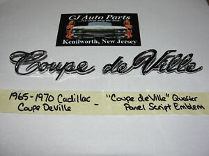 New 1965 1970 Cadillac coupe Deville Quarter Panel Fender Script Emblem