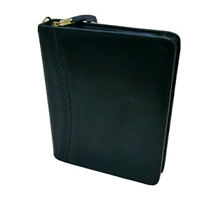 Franklin Covey Quest Leather Organizer Zip Binder Inserts 1 1 2 Rings