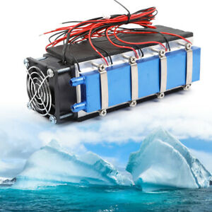 8 Chip Tec1 12706 Thermoelectric Peltier Cooler Diy Air Cooling Device 576w Usa