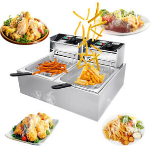 Deep Fryer Fry Daddy W Basket Stainless Steel Electric Countertop Large Capacity