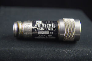 One Weinschel Engineering Type N 3 Db Rf Attenuator
