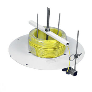 Portable Electrical Cable Wire Cord Spool Reel Dispenser Stand Roller Tool White