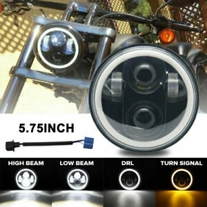 5 75 5 3 4 Motorcycle Projector Led Light Headlight For Honda Shadow Spirit 750