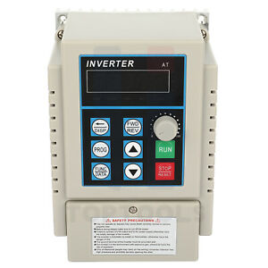 220v 0 75kw Variable Frequency Drive 1hp Vfd Single To 3 Phase Speed Control