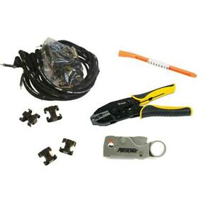 Msd Street fire V8 Wire Set And Install Kit Hei 90 Deg Socket
