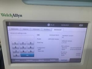 Welch Allyn Conex Vsm 6000 Color Patient Vital Signs Monitor 901060 Bp Only
