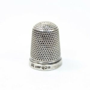 Antique Silver Thimble 925 Sterling 16 Henry Griffith Sons Birmingham 1912 1