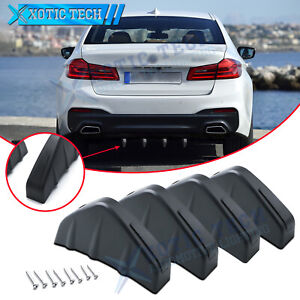 4x Rear Bumper Lip Splitter Shark Fins Wings Body Kit For Bmw 5 Series 2000 2021