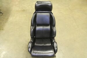 C4 Corvette Seat Assembly With Cushions Black Non Sport 1989 1993 Single Seat