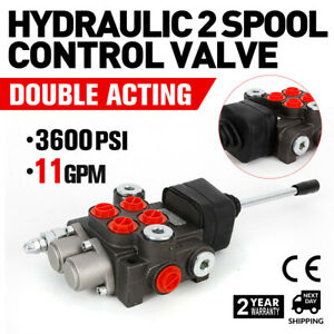 Hydraulic Directional Control Valve Tractor Loader 2 Spool 11 Gpm 1 2 3 8 Bspp