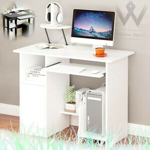 Wood Desk Computer Desk Pc Laptop Table Workstation Study Home Office Game Table