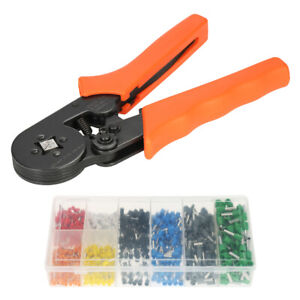Cable Wire Crimper Crimping Pliers Tool Ferrule Crimpers 0 25 6 0mm Kit Us D4x7