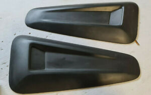 2010 2014 Ford Mustang Matte Black Side Window Louver Scoop Saleen Style