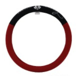 Mickey Mouse Steering Wheel Cover Red Black Comfortable Protector Anti Slip Car