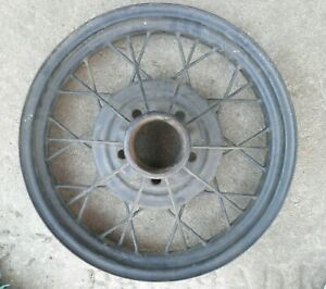 Vintage 30 31 Ford Model A 19 Wire Wheel 5 Bolt Dent In Rim