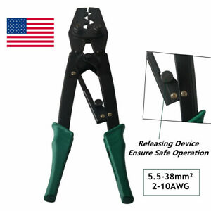 Ratchet Terminal Crimping Plier Labor saving japanese Style 5 5 38mm 2 10awg