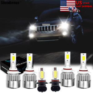 For Jeep Grand Cherokee 2005 2010led Headlight High low Beam Fog Light Bulbs Kit