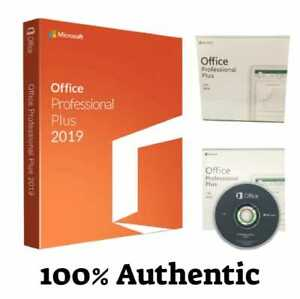 Microsoft Office 2019 Professional Plus Dvd 1pc For Windows 10 Free Shipping
