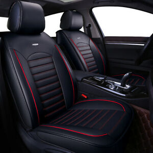 Luxury Universal Leather Car Seat Cover Protector Universal Fit 2 Front Cushion