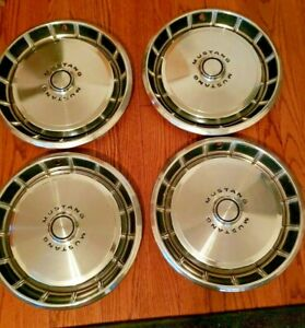 Vintage 1971 1972 1973 Ford Mustang 14 Wheel Covers Hubcaps Set Of 4 Oem