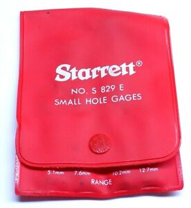 Mint Starrett No S829e Small Hole Gages Set Of 4 125 To 500