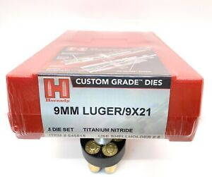 NEW Hornady 9mm Luger 9x21 Titanium Nitride 3 Die Reloading 546515 Sealed $79.99