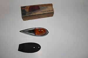 Vintage Yankee Products Streamlined Amber Marker Lamp Light Nos With Box No 77