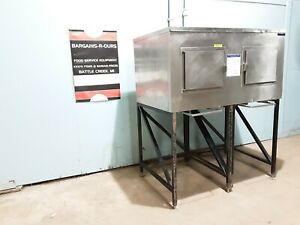 Kloppenberg Ice Shuttle Plus Storage System Bin On 2 Stands For Easy Ice Cart