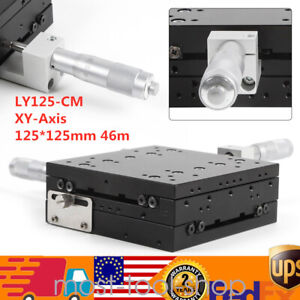 Xy axis Manual Linear Stage Slide Table Trimming Platform 125 125mm Ly125 cm