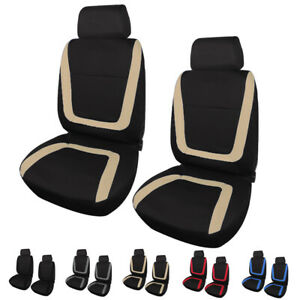 Set Of 2 Front Seat Covers Bucket Seat Protectors For Car Suv Truck Van