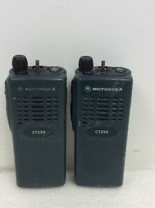 Lot Of 2 Motorola Ct250 Two Way Radio Aah34sdc9aa1an Working Free Ship Plz Read