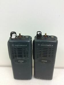 Lot Of 2 Motorola Ct250 Two Way Radio Aah34sdc9aa1an Working Free Shipping Read